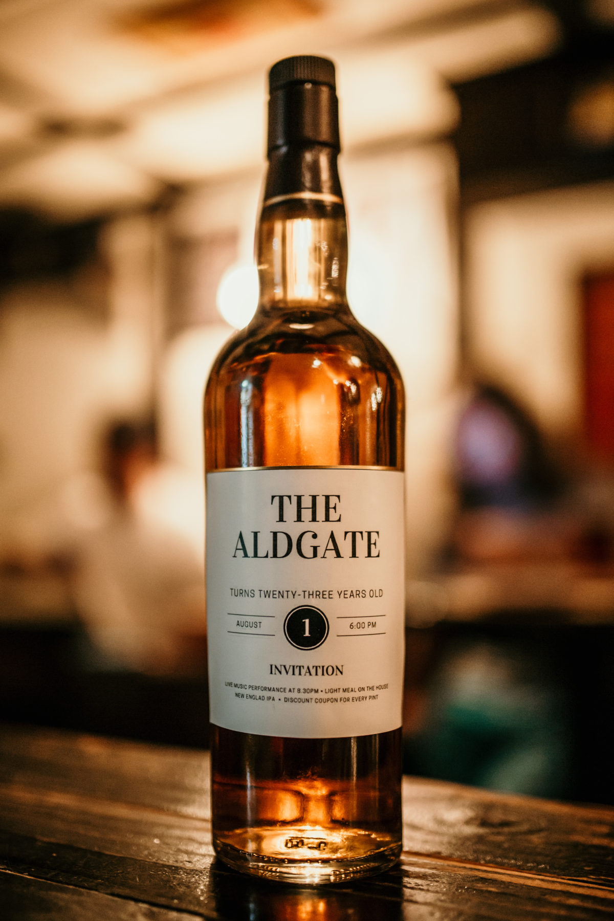 The Aldgate 23rd anniversary whisky bottle